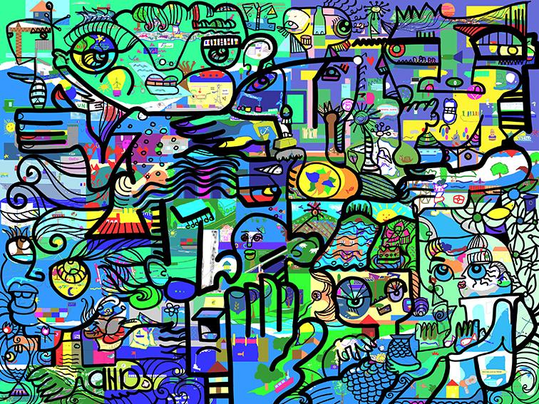 Peinture Collective en Télétravail